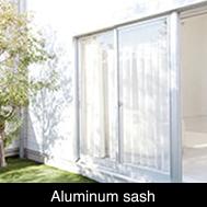Alminium sash